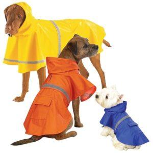 Regntäcke för hund med reflex test