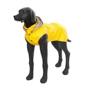 Rukka Stream Regntäcke Navy Gul för större hundar