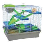 Rosenträ Pico Hamsterbur, extra stor, silver - bästa hamsterburen budget